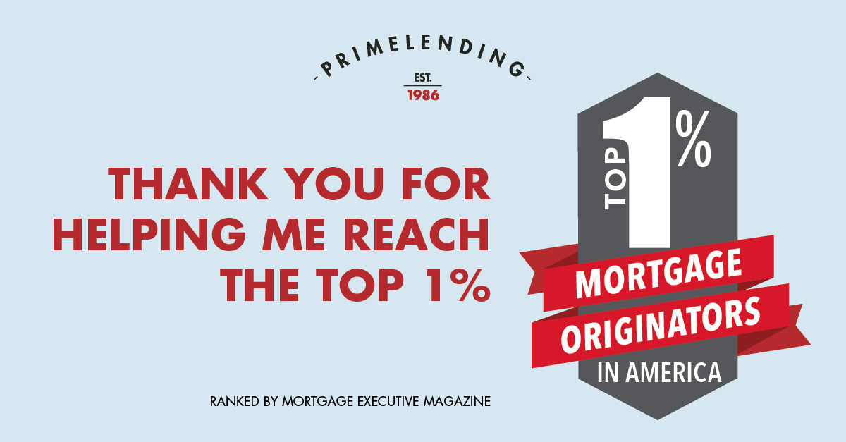 Top 1 Percent Mortgage Originator